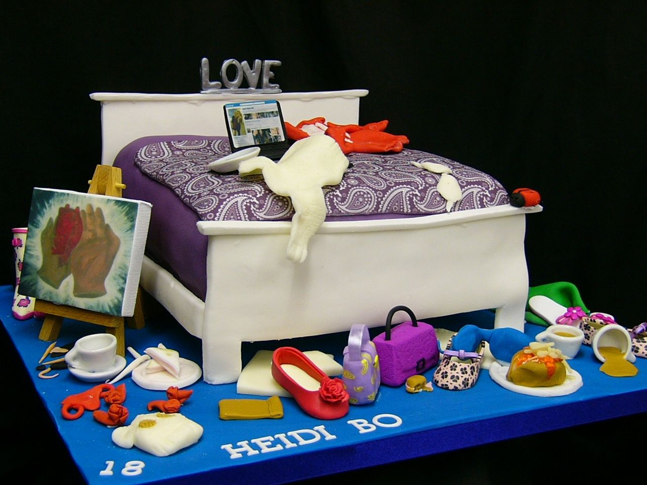 Teenager Messy Bedroom 3d Birthday Cake With Images Bed
