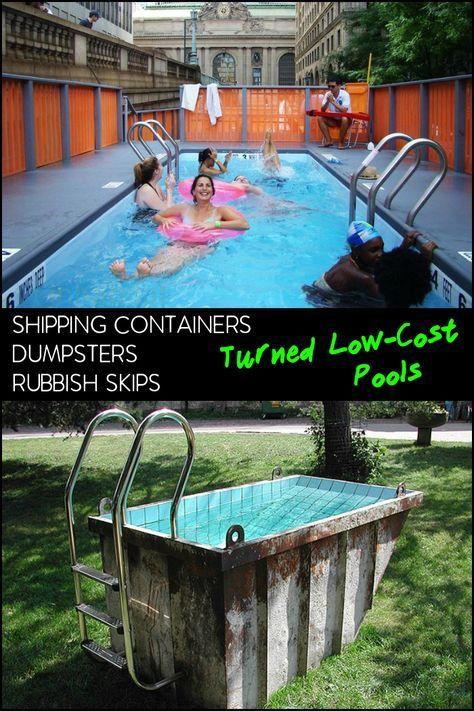 Dumpster Diving | House | Dumpster pool, Container homes cost ...