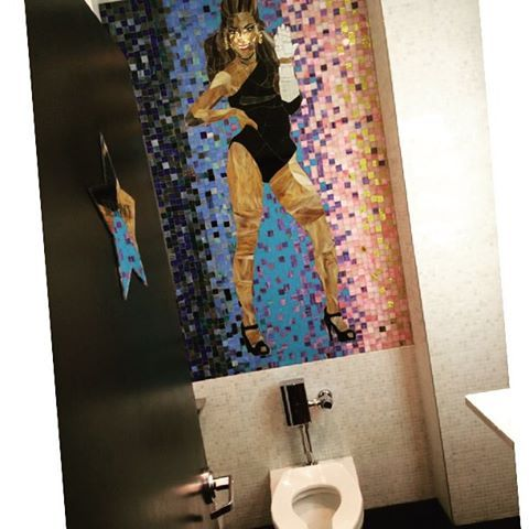 That's right folks, a @beyonce toilet. Thanks to @exactlyerin for the moral support in opening the ladies room door :)