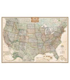 Buy United States Executive Wall Map Wall Maps United States - Buy map posters