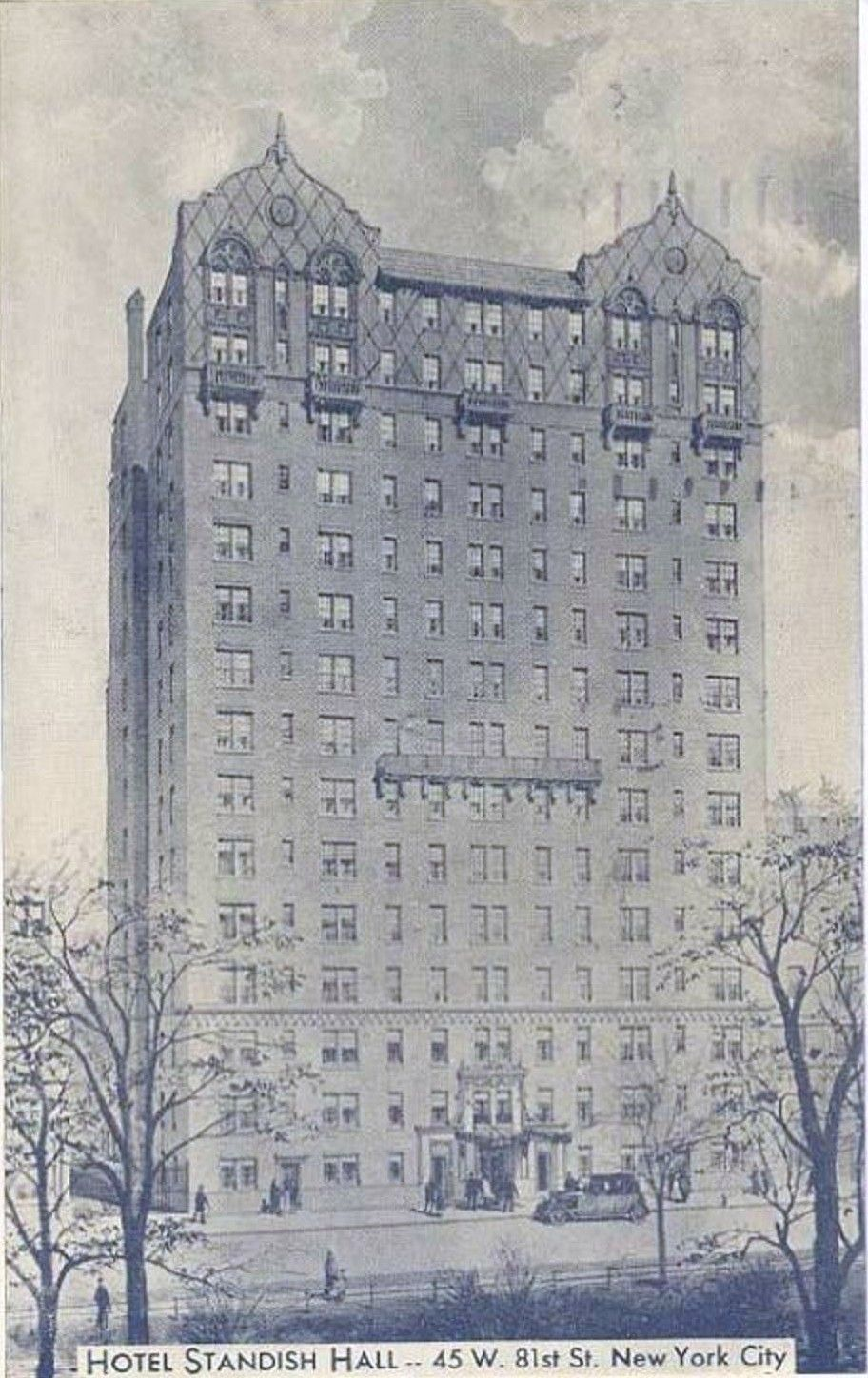 Hotel Standish Hall 45 West 81st Street Circa 1930 Built In 1922 Right Across The From American Museum Of Natural History Was Renamed