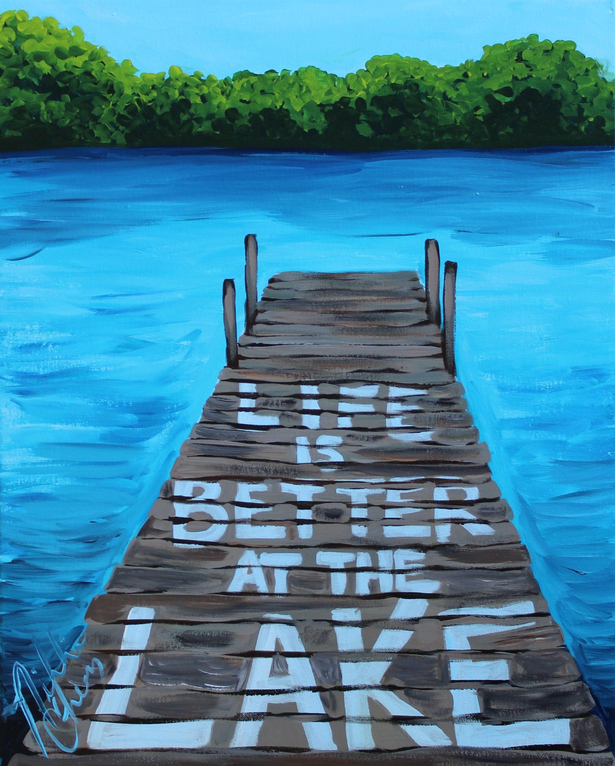 Lake Painting Art By Nikki Cherry The Preppy Possum