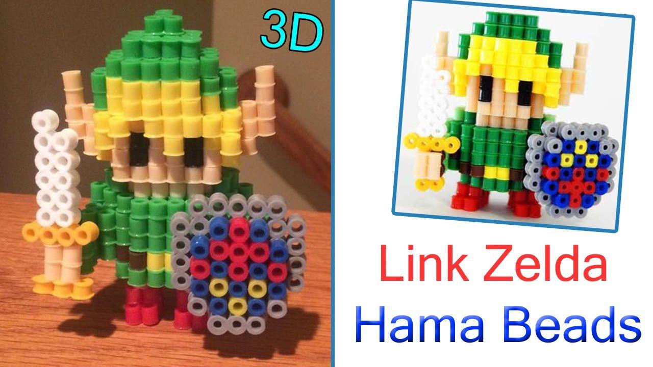 3D Link - Legend of Zelda Hama Beads / Perler Beads Tutorial !