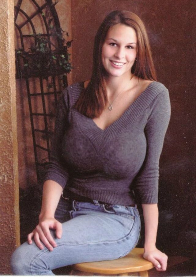 Busty women wearing sweaters