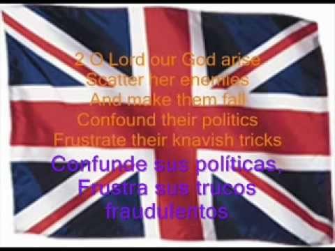 Himno Británico Subtitulado En Inglés Y Español Himnos Britanicos Letras Inglesas