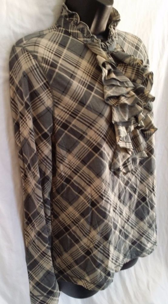 NWT LRL Lauren Jeans Co. Ralph Lauren Women's long Sleeve Top Size L plaid #RalphLauren #longsleeveTshirttop #Casual
