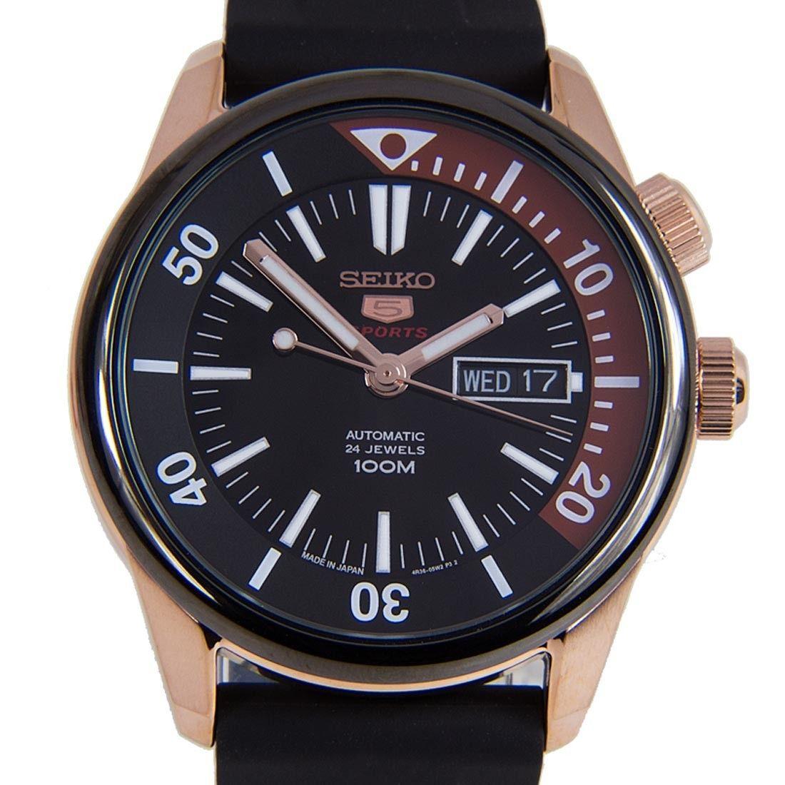 Seiko 5 Sports Mechanical 24 Jewels Male Black Dial