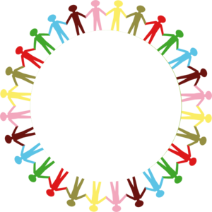 circle holding hands stick people multi coloured clip art rh pinterest co uk children holding hands clipart