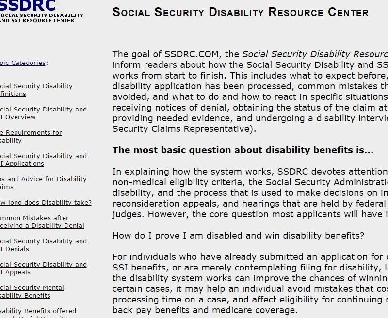 Social Security Disability Resource Center How To Apply And Qualify For Ssd And Social Security Disability Benefits Social Security Disability Disability