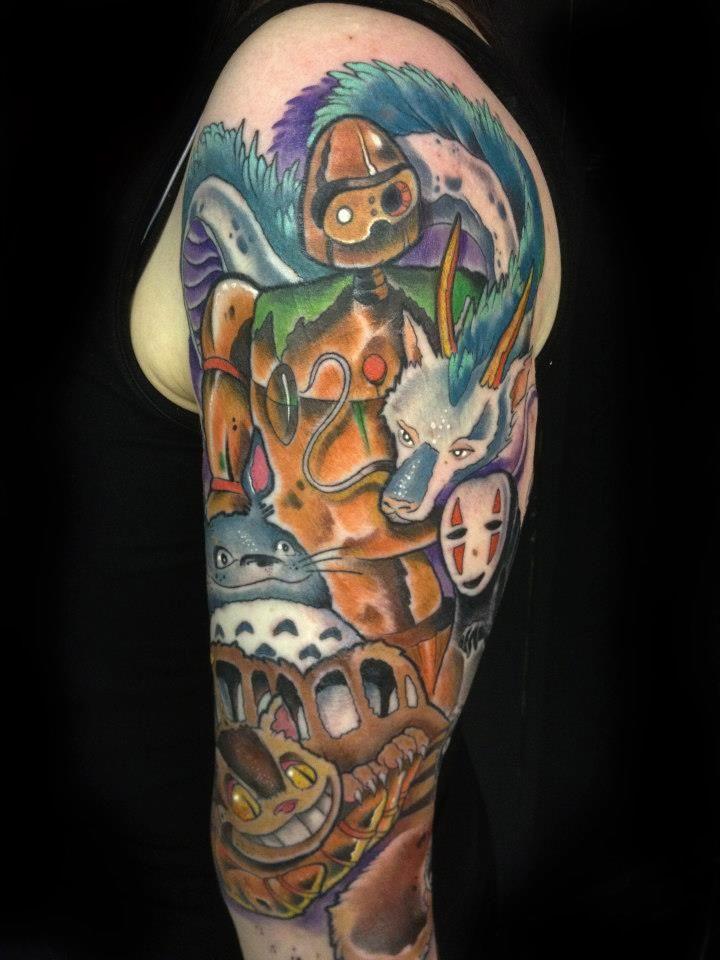 c92e707f285bf Miyazaki 3 by ~InLoveAndSqualor on deviantART | Tattoo | Half sleeve ...