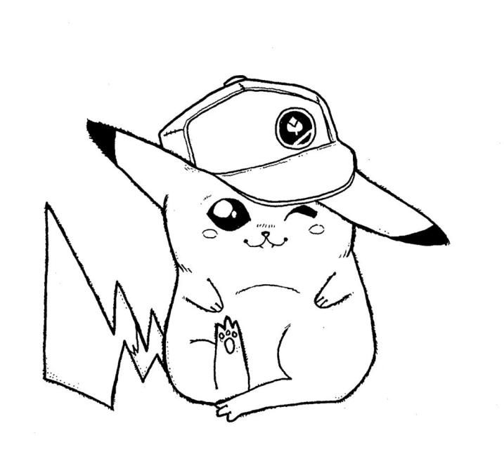 Download and Print pikachu baseball player pokemon coloring page ...