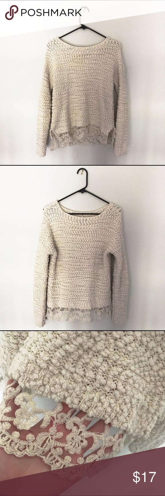 Soft Cream Sweater | Cotton sweater