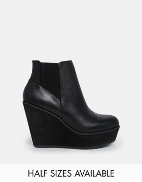 e145d31296a Shellys London Campalto Black Wedge Ankle Boots