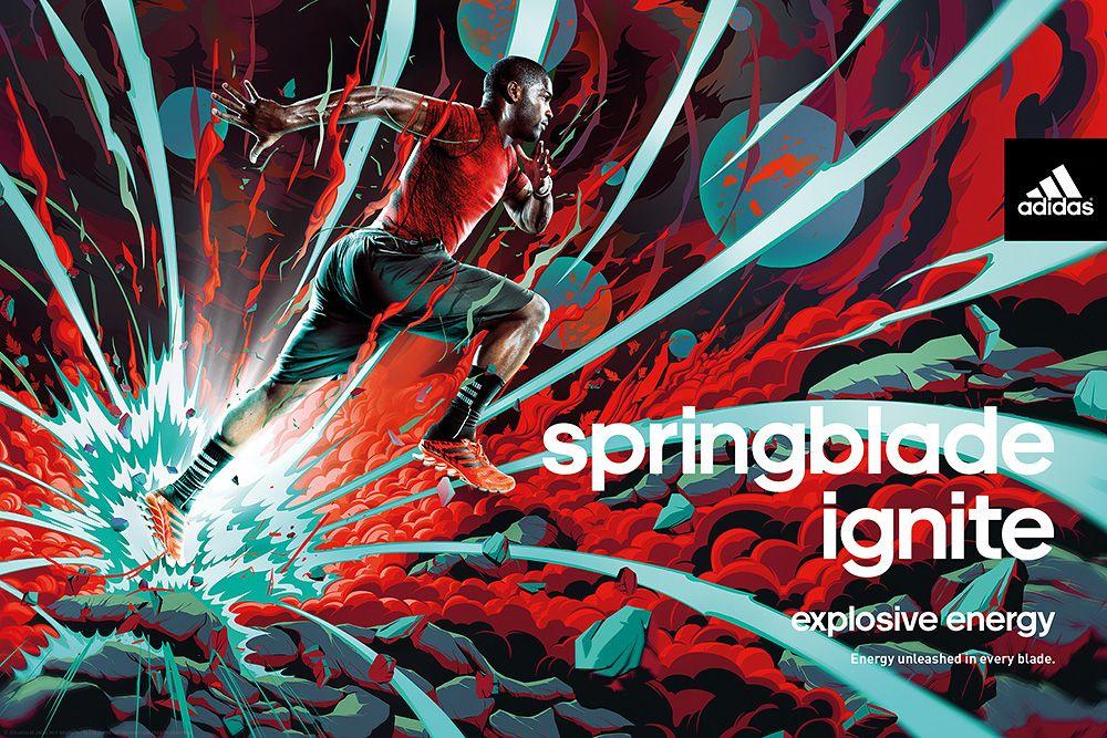 Adidas springblade su behance d e s e g n pinterest adidas