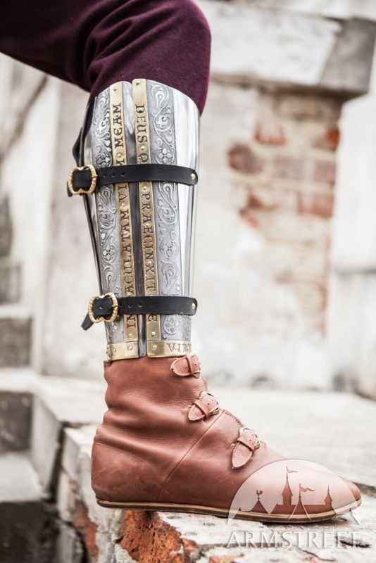 Medieval Leather Ankle High Knight Shoes Boots