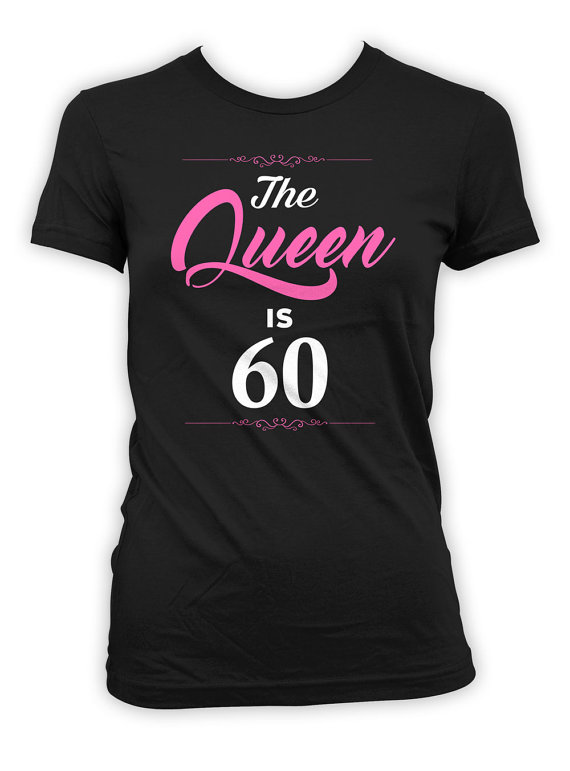 60th Birthday Gift Ideas For Her Custom T Shirt Bday Present Personalized TShirt B Day The