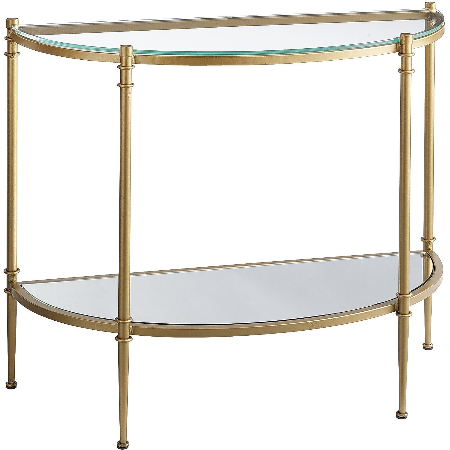 """Clara Console Table - Gold   35 1/2"""" wide. 14 1/4"""" deep. 30"""" high."""
