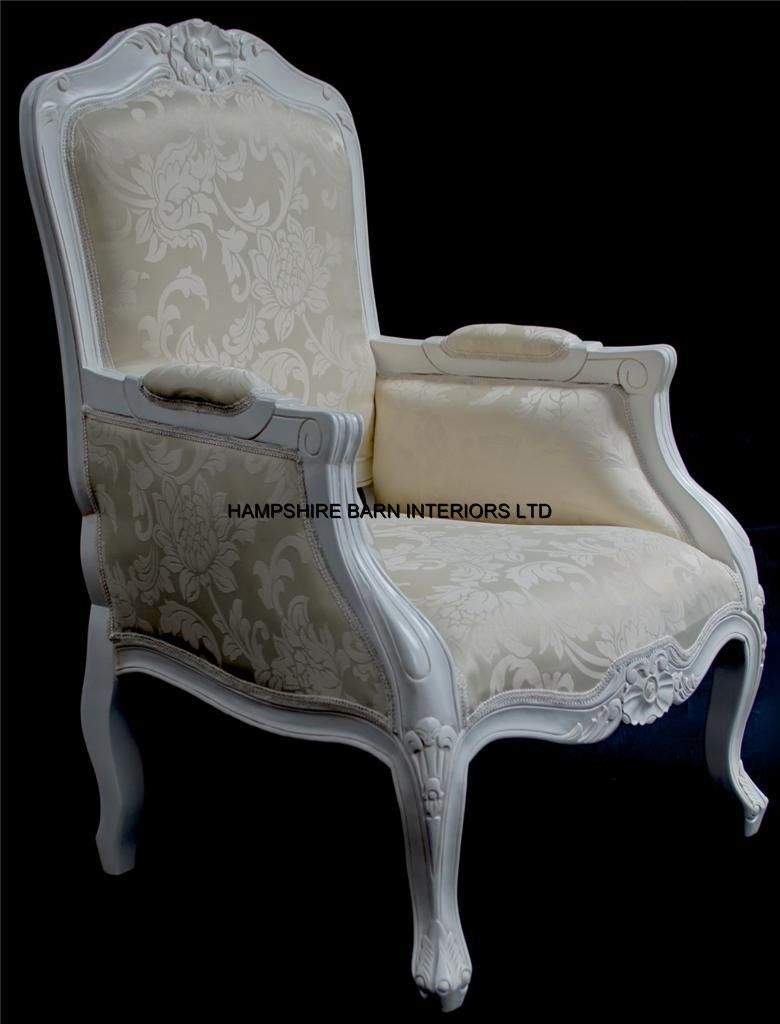 A French Chateau Style Ornate Arm Chair Bedroom Antique White  A French Chateau Style Ornate & A French Chateau Style Ornate Arm Chair Bedroom Antique White  A ...