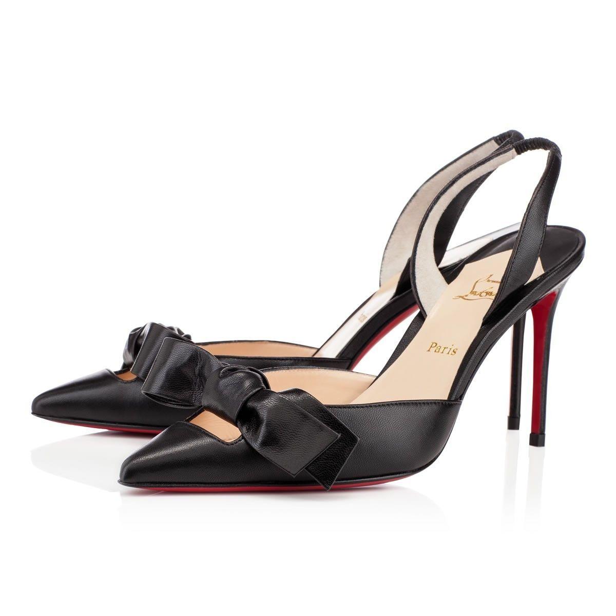 Chaussure Louboutin Pas Cher Escarpins Washington Kid 85mm Noir 0 #chaussure