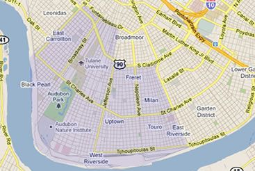 Uptown New Orleans Map new orleans uptown map | Stock Images | New orleans, Louisiana