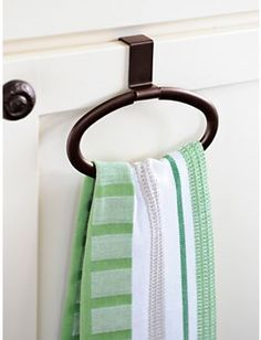 Over The Cabinet Towel Holder Solutions $9.98 Instantly add a ...