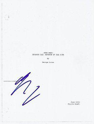 Ewan Mcgregor Signed Star Wars Revenge Of The Sith Script Autograph Revenge Sith Script