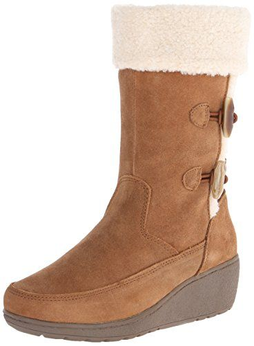 Khombu Women's Clara Snow Boot,Tan,9 M US. Mid-calf snow boot featuring suede upper with full-length instep zipper and faux-shearling collar. Moisture-wicking Ortholite lining with antifungal foam. Thermolite cushioned insole. Slip-resistant outsole.