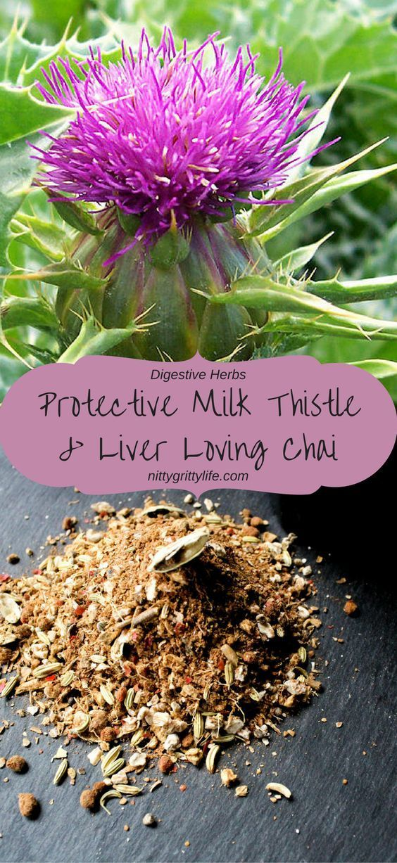 Milk thistle offers gentle yet profound liver-protective benefits.  Yummy chai is an excellent way to restore and replenish!