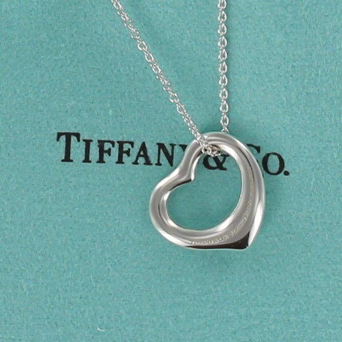 d0261475c27 MINT! Tiffany Elsa Peretti Sterling Silver Open Heart Pendant 18