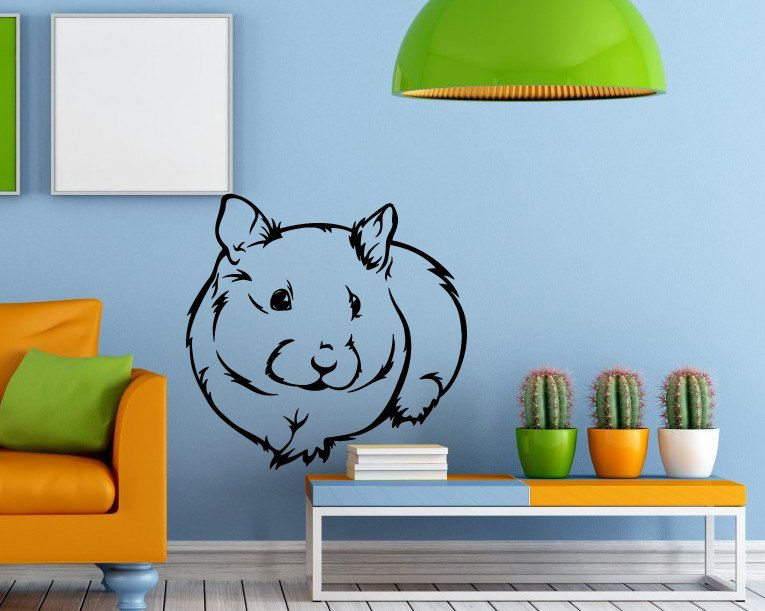 Wall Decals Animal Hamster Decal Vinyl Sticker Home Decor Animal