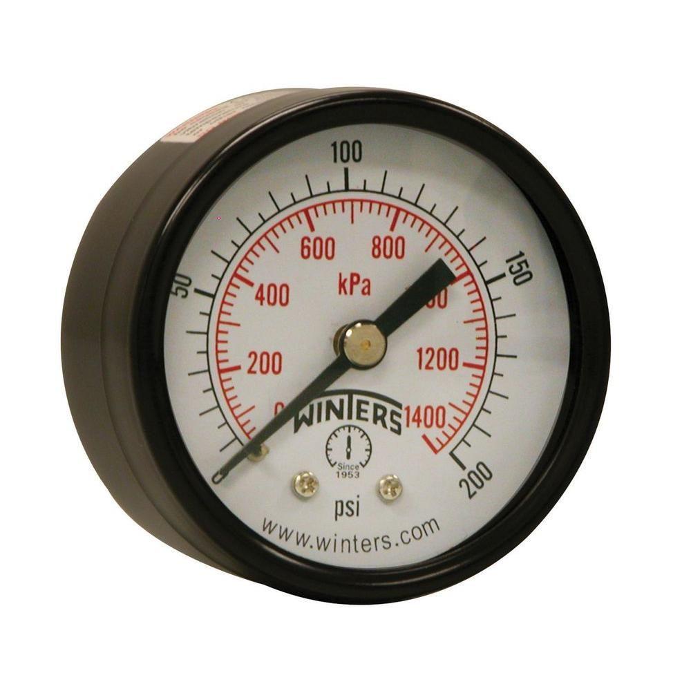 Pem Series 2 In Black Steel Case Brass Internals Pressure Gauge Tachometer 4 1 With