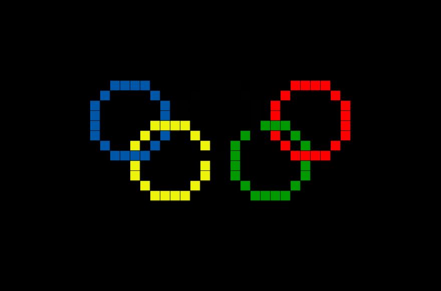 Olympic Rings Pixel Art Pixel Art Pixel Art Pattern Pixel