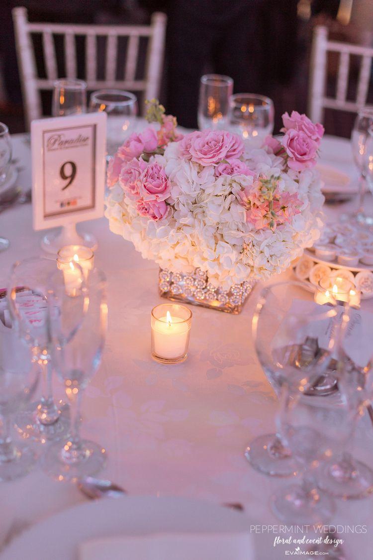 Paradise Banquet Centre Wedding Reception Decor, Concord | Pink ...