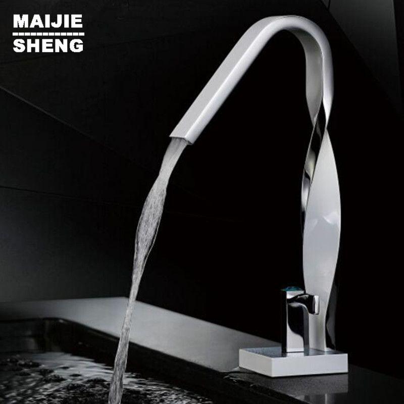 Bathroom twist style basin faucet waterfall basin faucet water tap ...