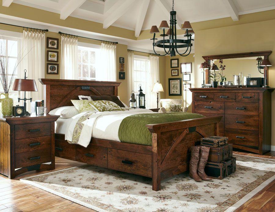 BO Railroad© Trestle Bridge Panel Bed from Simply Amish furniture