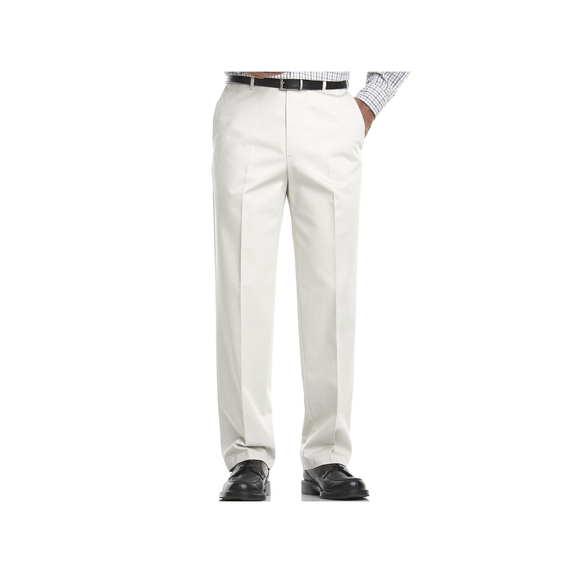 Oversizebig Tall Haggar Work To Weekend Classic Fit Flat Front Expandable Waist Pants Men S Size 50x30 Lt Beige In 2019 Products Pants Tall Pants T