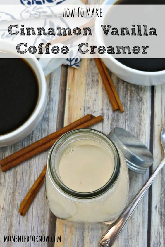 I used to buy flavored creamers all the time - until I took a look at the ingredients in them. With this homemade cinnamon vanilla coffee creamer recipe, I am back to enjoying flavored creamers!:
