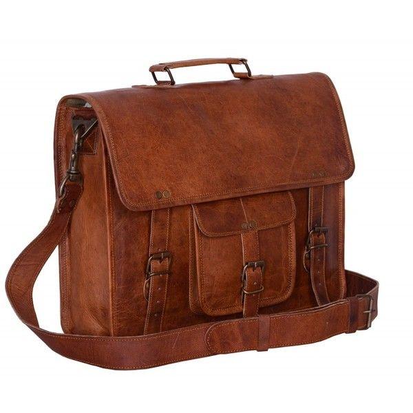 d1420d768a7e Vintage 15 Inch Laptop Messenger Bag briefcase Satchel for Men and ...
