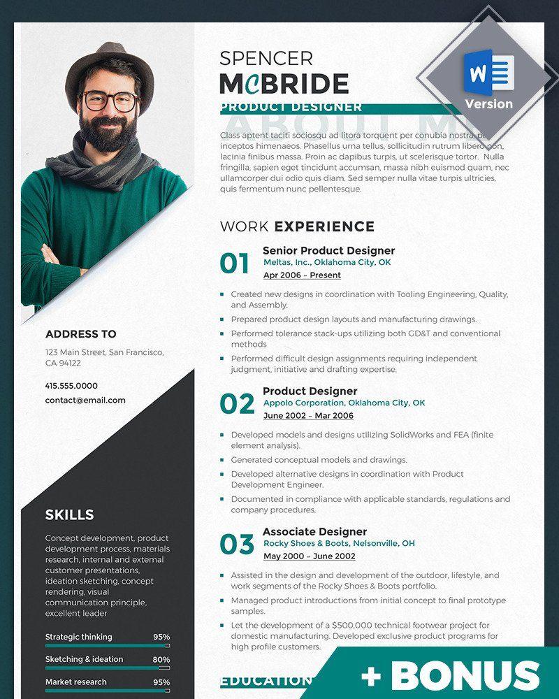 Spencer McBride Product Designer Resume Template 69714
