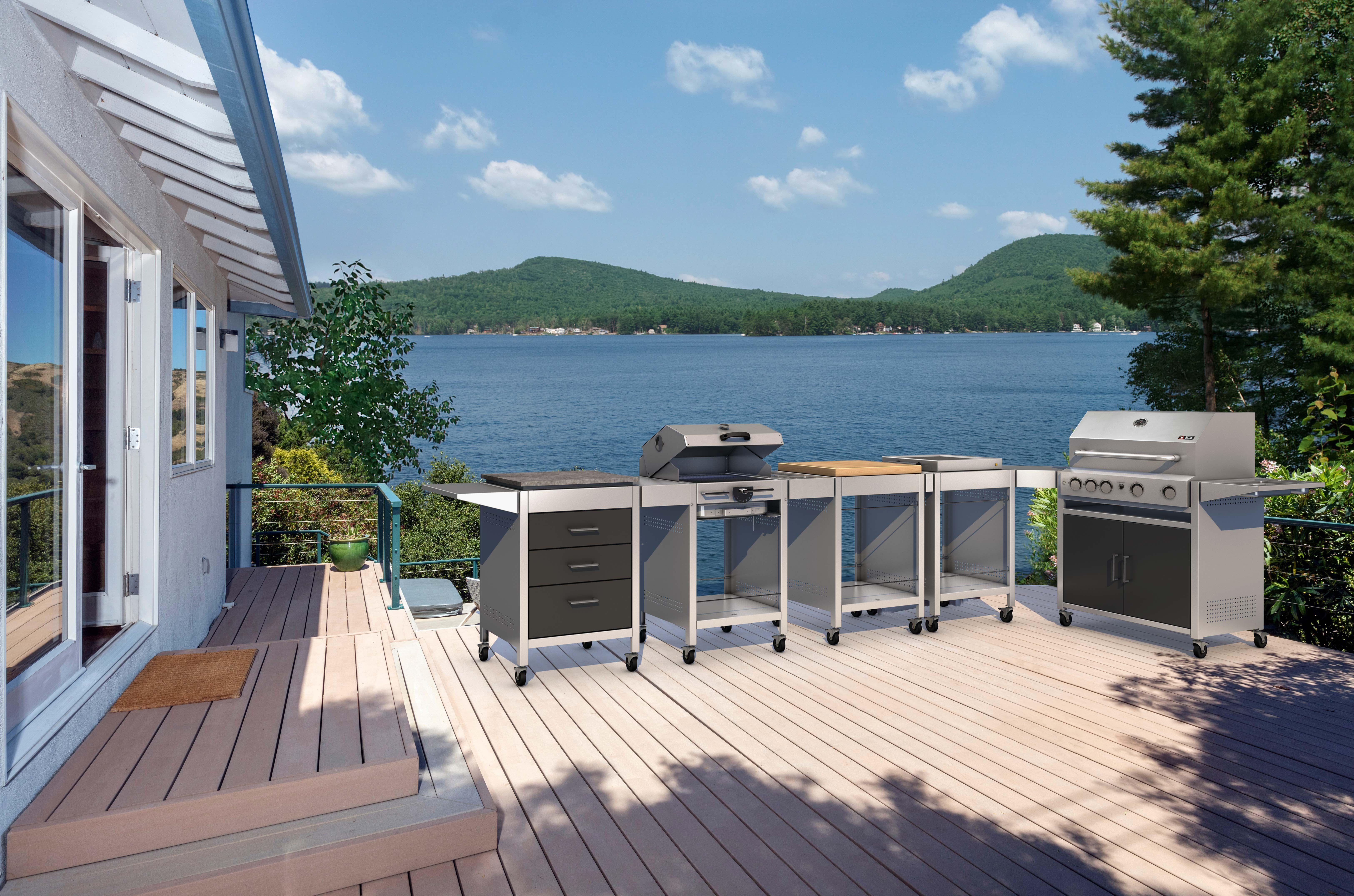 Outdoorküche Garten Edelstahl Kosten : Röshults mit outdoorküche aus eschenholz und edelstahl schÖner