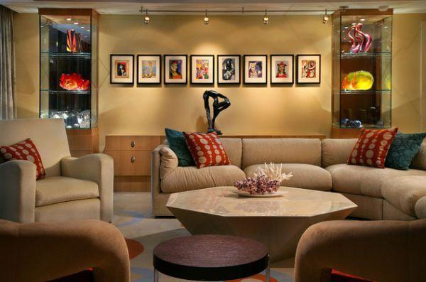 coole schienen beleuchtung beige möbel wohnzimmer Projects to - möbel wohnzimmer modern