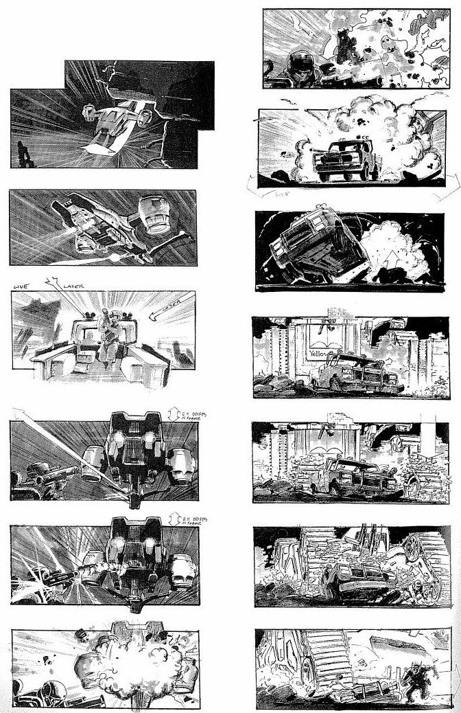 Today I Thought ID Share Some Storyboards From Terminator  They