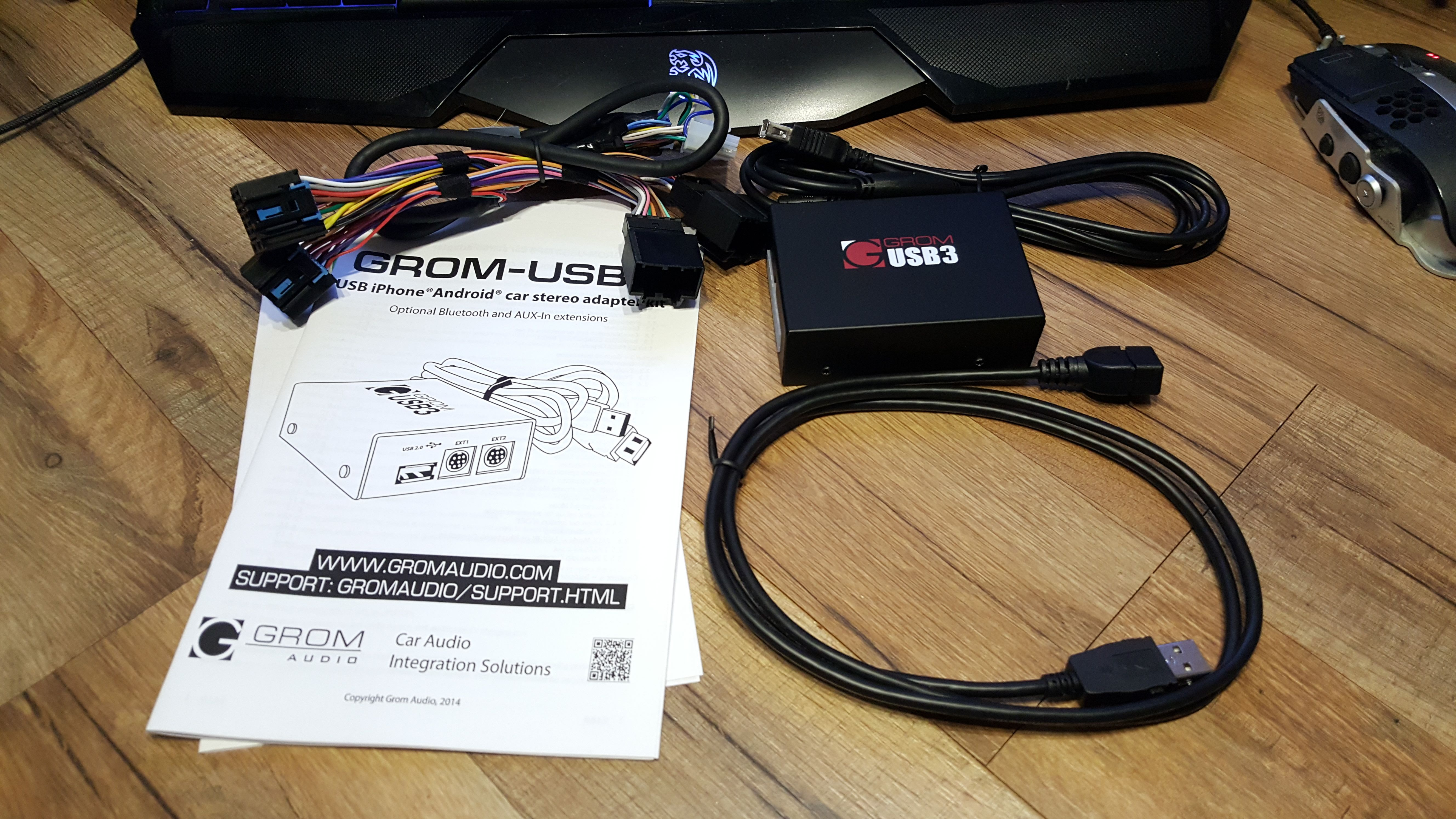 Grom usb android bluetooth iphone car kit gets reviewed by http cerebral