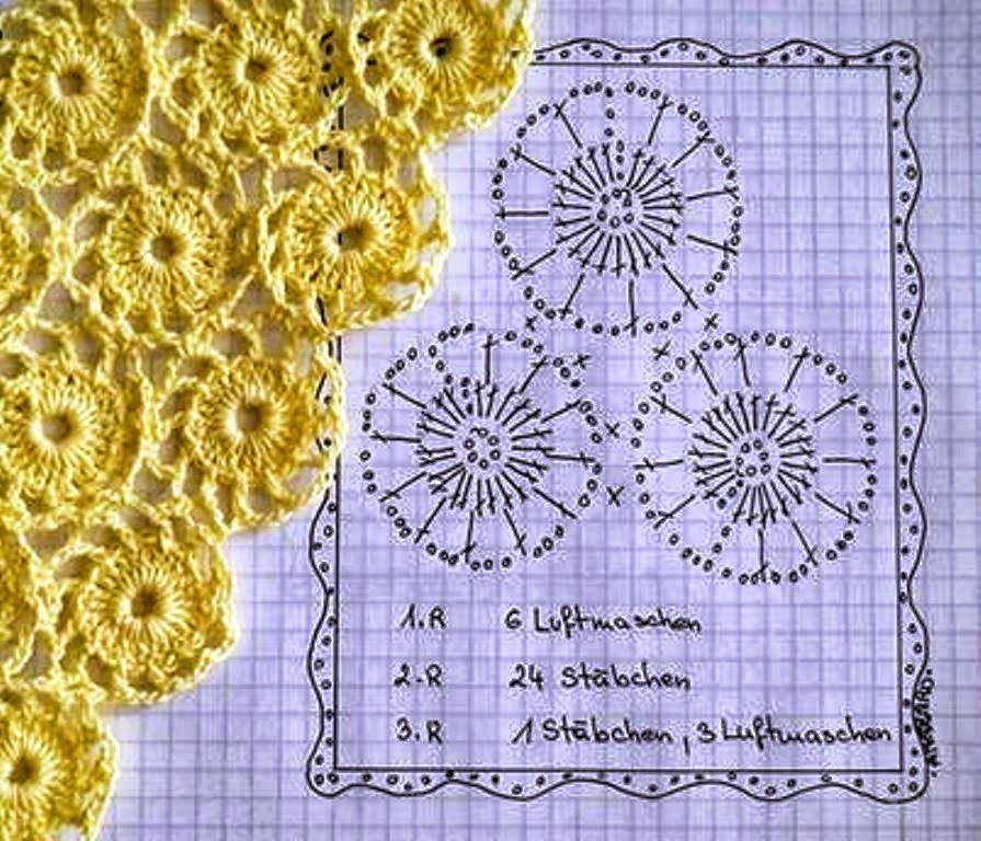 Dorable Copo De Nieve Patrones De Crochet Libre Adorno - Manta de ...