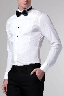 white round front tuxedo shirt modern gentleman