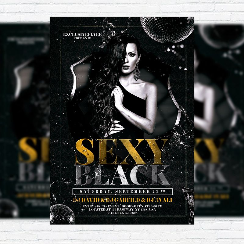 Sexy Black - Premium Flyer Template + Facebook Cover http - black flyer template