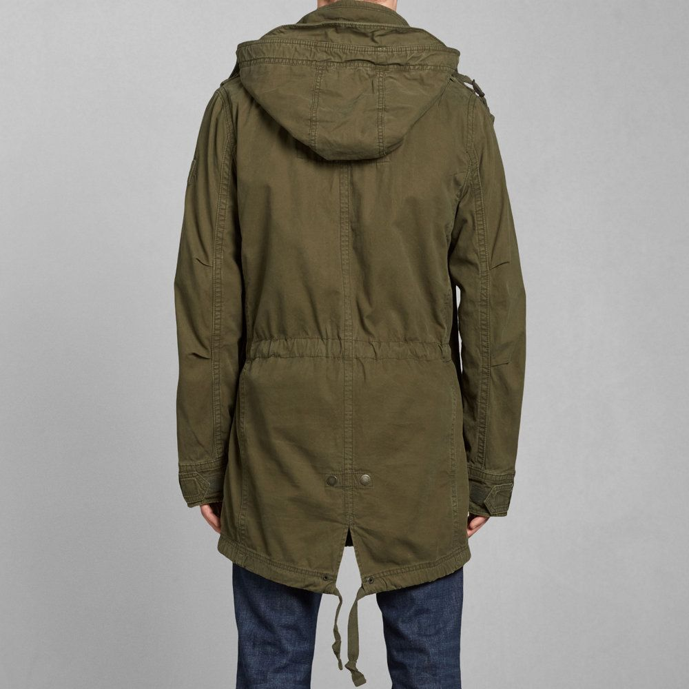 Mens Tupper Lake Twill Fishtail Parka | Mens Outerwear ...