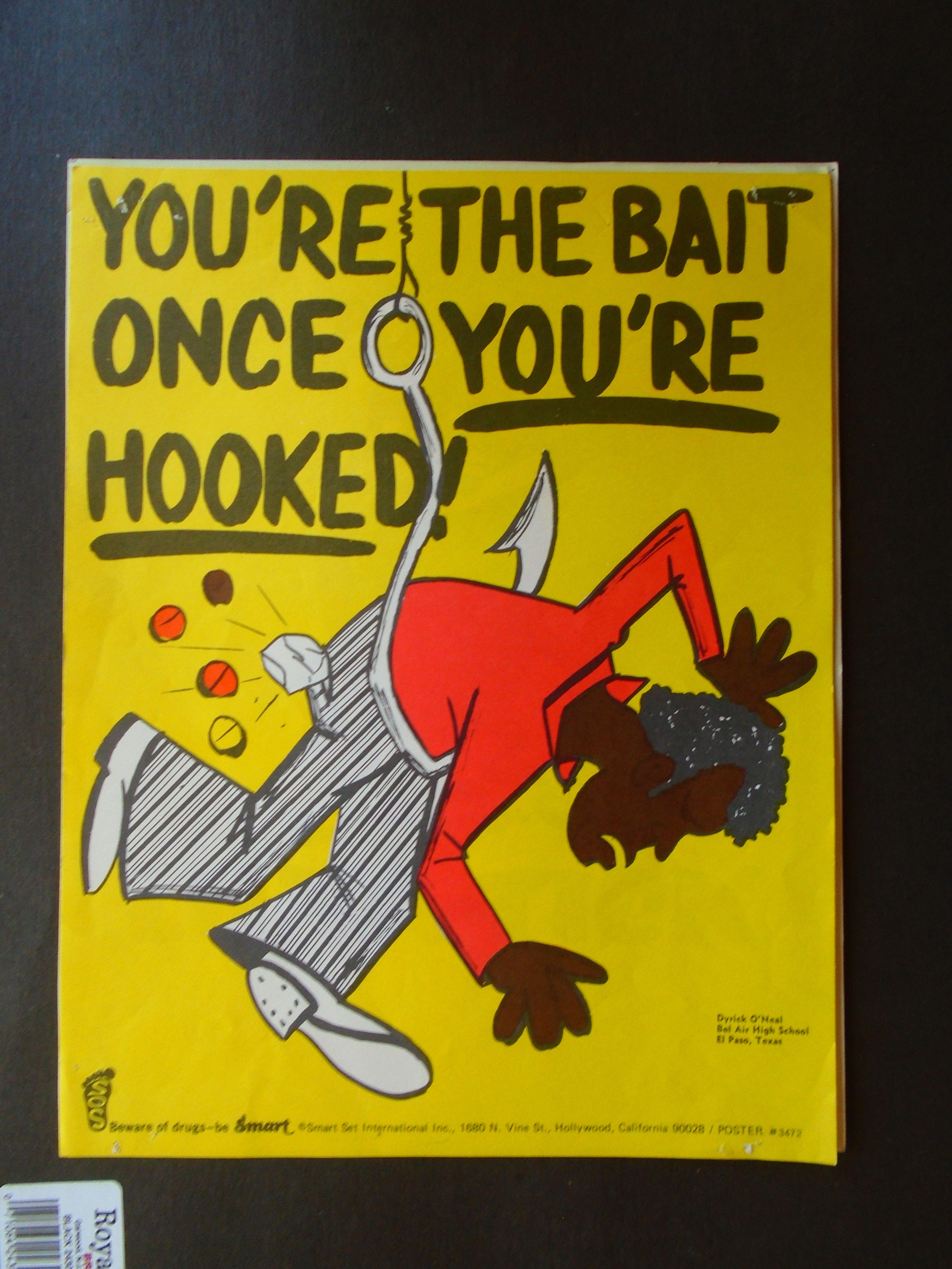Vintage 1972 Anti Drug Poster Poster The Bait Poster Making