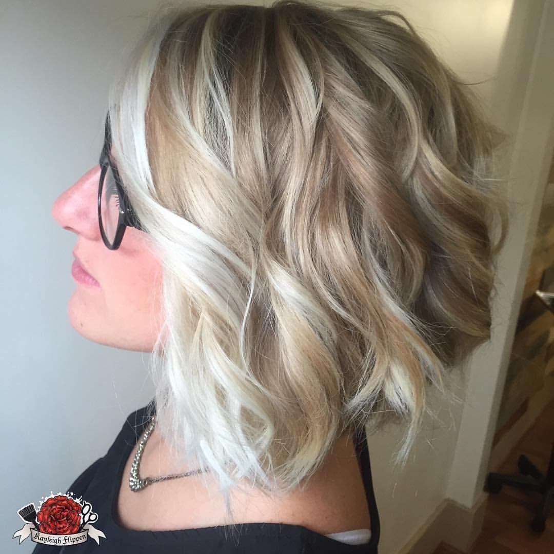 Blonde Balayage  Short blonde hair