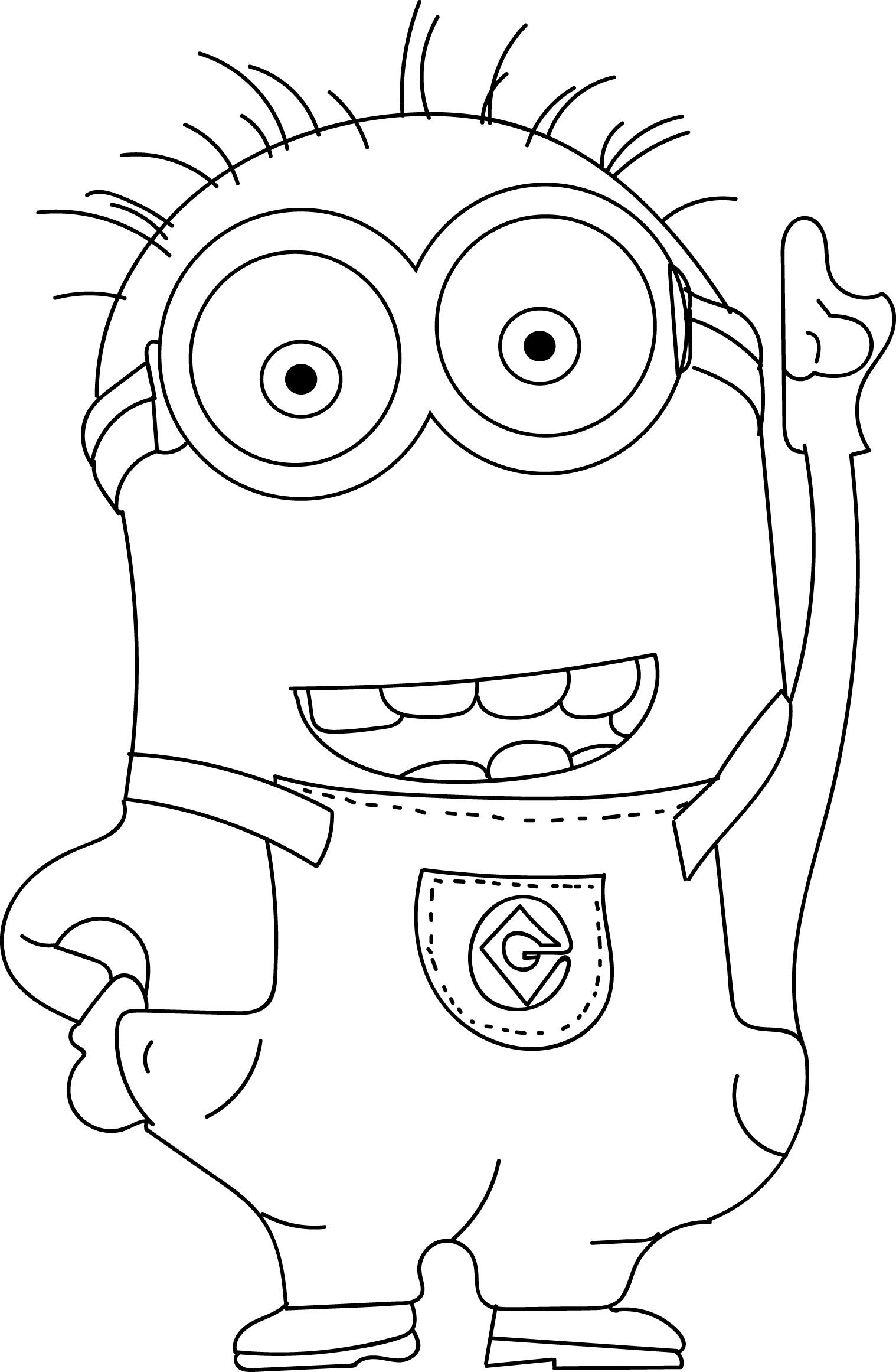 Minions coloring pages peace minion ~ Minions Coloring Pages | Minion coloring pages, Coloring ...